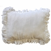 Velvet Baby in Ivory Throw Pillow
