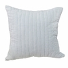 Velvet Quilted Pillow Sham in Cornflower Blue
