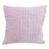 Velvet Quilted Pillow Sham in Lilac