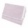 Velvet Quilted Throw Blanket in Lilac