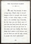Velveteen Rabbit Quote Vintage Framed Art Print
