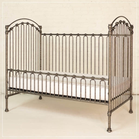 Venetian Crib in Pewter