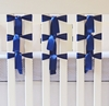 On Sale Ventilated Slat Bumper 20-Pack with Satin Navy Ties