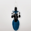 Venus Neon Blue Black Crystal Wall Sconce