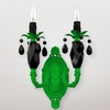 Venus Neon Green Black Crystal Double Wall Sconce