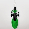 Venus Neon Green Black Crystal Wall Sconce