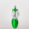 Venus Neon Green Clear Crystal Wall Sconce