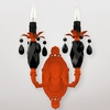 Venus Neon Orange Black Crystal Double Wall Sconce