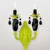 Venus Neon Yellow Black Crystal Double Wall Sconce