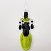 Venus Neon Yellow Black Crystal Wall Sconce