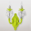 Venus Neon Yellow Clear Crystal Double Wall Sconce
