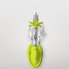 Venus Neon Yellow Clear Crystal Wall Sconce