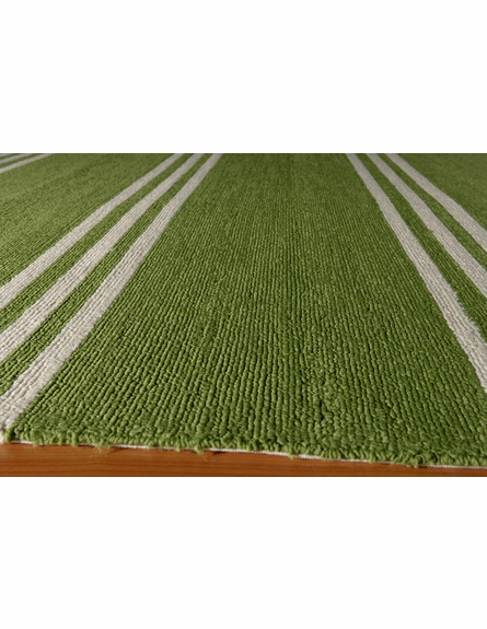 Veranda Lime Green Stripe Rug