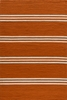 Veranda Tangerine Orange Stripe Rug