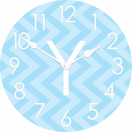 Vertical Chevron Wall Clock