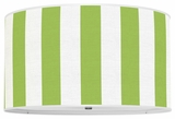 Vertical Stripes Apple Green