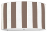 Vertical Stripes Chocolate Brown
