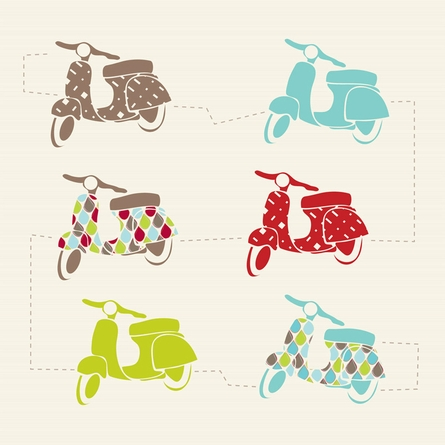 Vespa Love Art Print