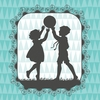 Victorian Details Boy And Girl Canvas Wall Art