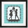 Victorian Details Boy And Girl Framed Art Print