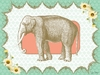 Victorian Details Elephant Canvas Wall Art