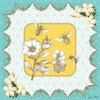 Victorian Details Flowers And Bees Canvas Wall Art