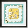 Victorian Details Flowers And Bees Framed Art Print