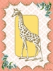 Victorian Details Giraffe Canvas Wall Art