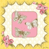 Victorian Details Three Butterflies Canvas Wall Art