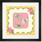 Victorian Details Three Butterflies Framed Art Print