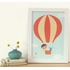 View From Above Orange Balloon Framed Canvas Wall Art