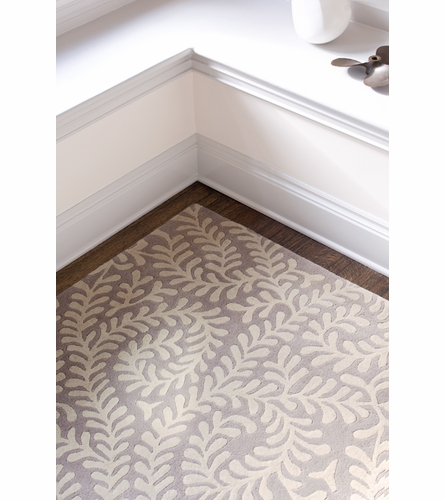 Vine Tufted Rug in Platinum