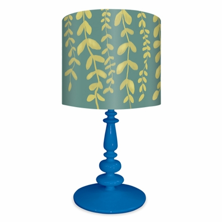 Vines on Blue Lamp