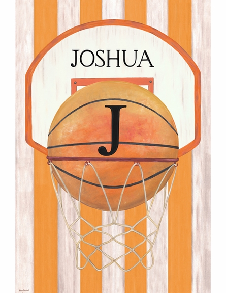 Vintage Basketball Personalized Wall Hanging