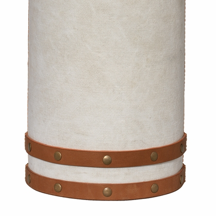 Vintage Canvas Small Barrel Table Lamp