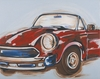 Vintage Car Hand Painted Canvas