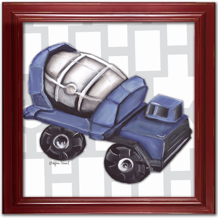Vintage Cement Mixer Toy Canvas Reproduction