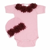 Vintage Chic Bordo Baby Romper Set