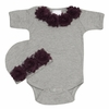 Vintage Chic Gray Baby Romper Set