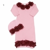 Vintage Chic Pink Baby Gown Set