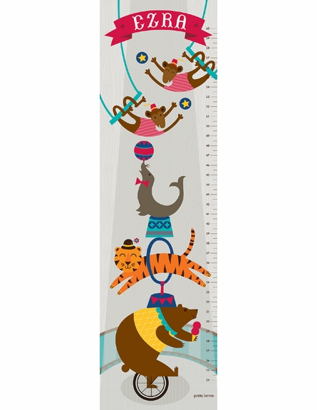 Vintage Circus Personalized Growth Chart