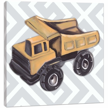 Vintage Dump Truck Toy Canvas Reproduction