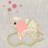 Vintage Elephant in Pink Canvas Wall Art
