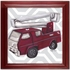 Vintage Fire Truck Toy Canvas Reproduction