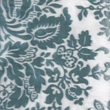 Vintage Floral Burnout in Aqua