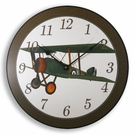Vintage Flyer Airplane Kids Wall Clock