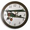 Vintage Flyer Airplane Kids Clock