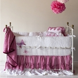 Vintage Girls Crib Bedding