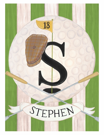 Vintage Golf Personalized Wall Hanging