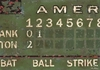 Vintage Green Scoreboard - Baseball Canvas Wall Art